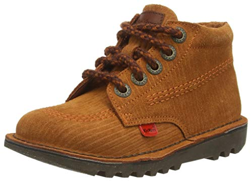 Kickers Kick Hi Cord, Botas Cortas al Tobillo Niños, Orange/Brown, 29/30 EU