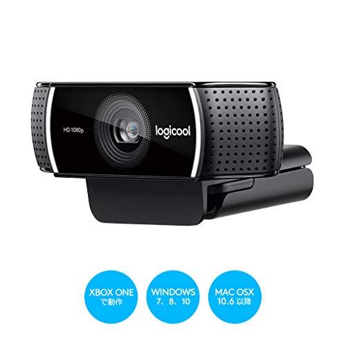 ロジクール ウェブカメラ C922 ブラック フルHD 1080P ウェブカム ストリーミング 撮影用三脚付属 国内正規品 2年間メーカー保証