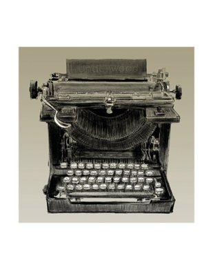 Vintage Typewriter, Underwood - Poster by Clifford Faust (8 1/2X11)