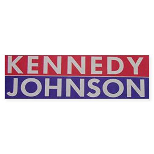 CafePress 1960 Kennedy Johnson 10'x3' Rectangle Bumper Sticker Car Decal