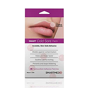 Smart Cold Sore Treatment Patch 36 ct | Soothe Itching and Burning | Discrete Invisible Skin Safe Adhesive