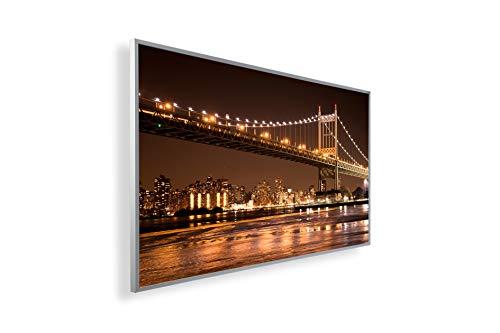 Bild Infrarotheizung (130W/300W/450W/600W/800W/1000W) mit 5 Jahren Garantie (300, New York Brooklyn Bridge bei Nacht)