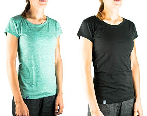 Alpin Loacker - Core Spun Merino T-Shirt für Damen (grün, S)
