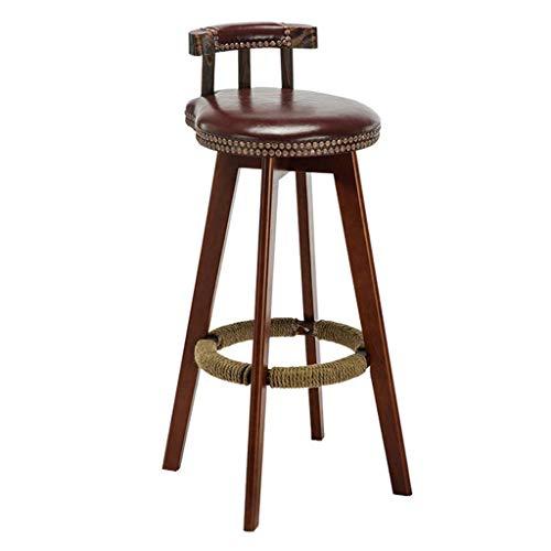 MTCGH Stühle, Hochstühle, Barstühle, Hocker Schwenkhöhe Barhocker-Stühle Mit Rückenlehnenzähler Mit Rückenlehne Connecis Küchen-Pub Mit Fußstütze,65 cm,65 cm