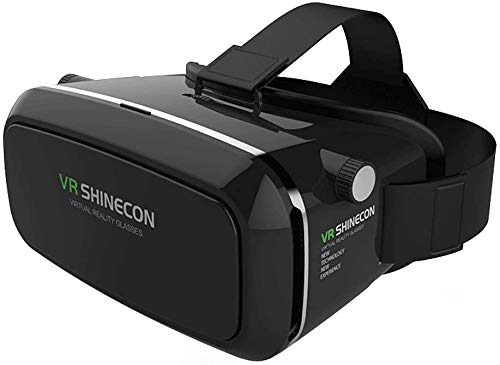 VR Shinecon Gafas VR de Realidad Virtual 3D, Negro