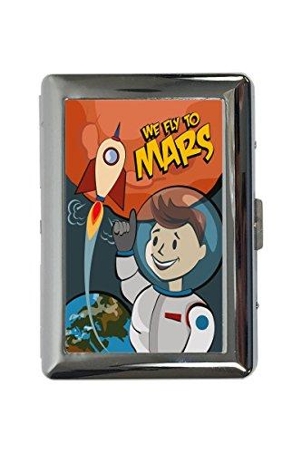 portasigarette in Metallo Vacanza Agenzia Di Viaggi Mars Stampato