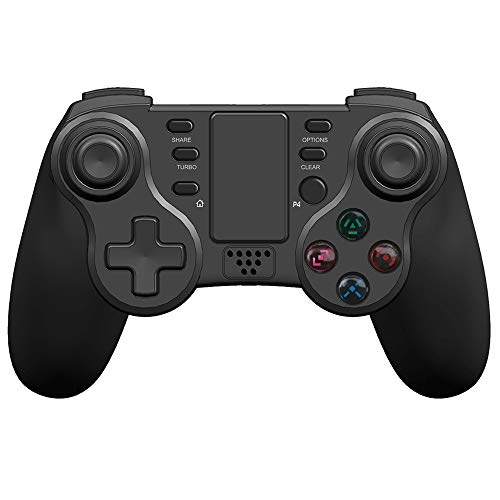 Controller für PS4 KINGEAR Wireless Pro Gamepad Controller für PlayStation 4 with LED Licht,Support 6-Axis Dynamic Sensing & Dual Vibration Function