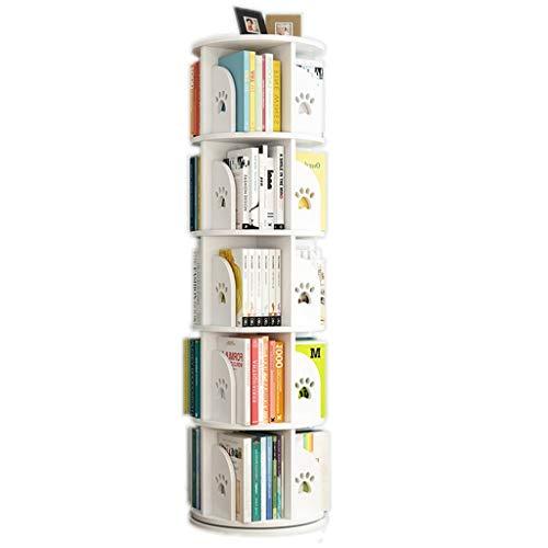 Librerías Estantería giratoria Estantería para niños Estantería Ajustable en Altura Montar el sujetalibros Estimular el interés de los niños por la Lectura (Color : Blanco, Size : 50.5 * 159cm)
