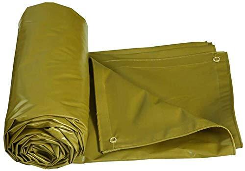 FFJD Camping Tarp for Sun and Rain/PVC Coated Cloth Tarpaulin Anti-oxidation Mildew Proof Tear Resistance-3m×4m