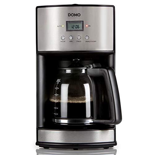 Kaffeemaschine 1,8Liter, Kaffeeautomat mit 1000Watt, Camping geeignet, schwarz-silber