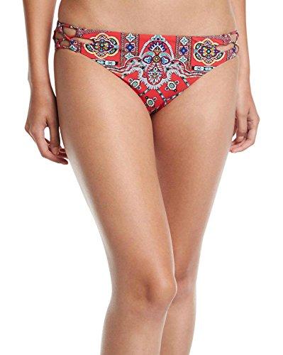 Nanette Lepore Women's Hipster Bikini Swimsuit Bottom, Ruby, Small