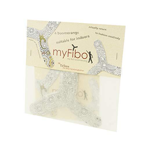 myfibo 318611 my first boomerang / Bumerang, weiß/schwarz, 4-teilig (1 Set)