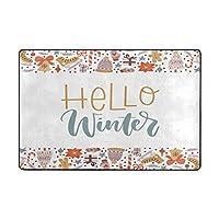 Amxxy クリスマス年冬かわいい雪片ソフトクッション滑り止め玄関マットバスラグ、クリエイティブなデザイン素敵な家の装飾屋内と屋外の玄関マットとバスルームマット15.7x23.6in