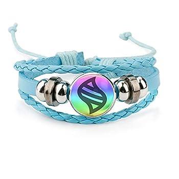 calhepco Game Ball Mega Stone Chain Blue Bracelet Game Fashion Charm Glass Cabochon Round Toy Pendant