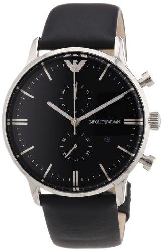 Emporio Armani Reloj Analógico para Hombre de Cuarzo con Correa en Cuero AR0397