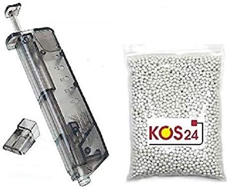 KOSxBO® 5000 Softair BBS 0.20g Premium BB Kugeln 6mm Airsoft inklusive Speedloader