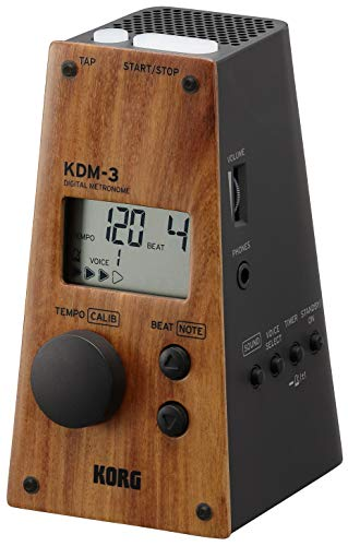 KORG - Digitales Metronom, in Pyramidenform Wood/Black