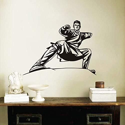 Dwzfme Pegatinas de Pared Adhesivos Pared Karate Postura Vinilo Home Living Mural Art Adhesivo Decorativo Extraíble Talla Niños Niños Habitación Mural 78x105cm
