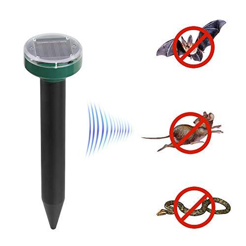 Ajcoflt Solar Mole Repelente Sonic Deterrent Repeller Cobra Roedor Gopher Chaser Controle de pragas para jardim gramado Casa