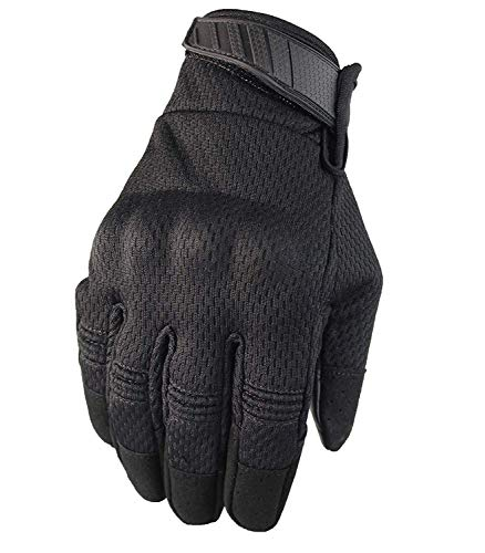 Fuyuanda Tactical Glove Hard Knuckle Screen Touch Gloves for Military Shooting Cycling Riding Motorcycle Airsoft Paintball Gear(Black, L)