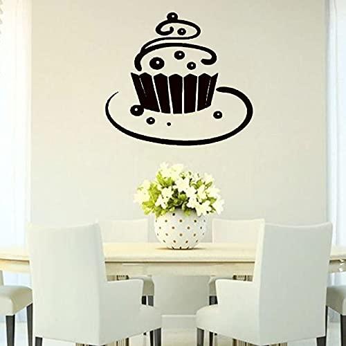 Sweet Pie Food Tatuajes de pared Pastel Decoración para el hogar Cocina Café Etiqueta de la pared Vinilo Arte Murales Niños Nursery Wallpaper Poster Decoración A7 48x43cm
