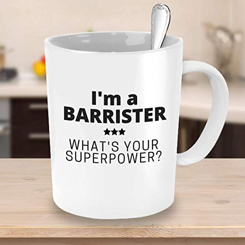 ChGuangm Superpower Coffee Mug Im a Barrister Whats Your Superpower Gift Ideas for Lawyers