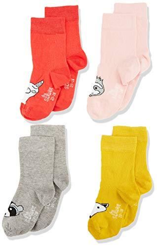 s.Oliver Socks S20602 Calcetines, Rosa (Hibiskus 3214), 15-18 (Talla del fabricante: 15/18) (Pack de 4) para Bebés
