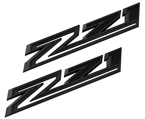 2pcs New Z71 Emblems Replacement for 2019-2021 Silverado 1500 2500 3500 Decal Badge 84632695 Nameplate OEM (Matte Black)