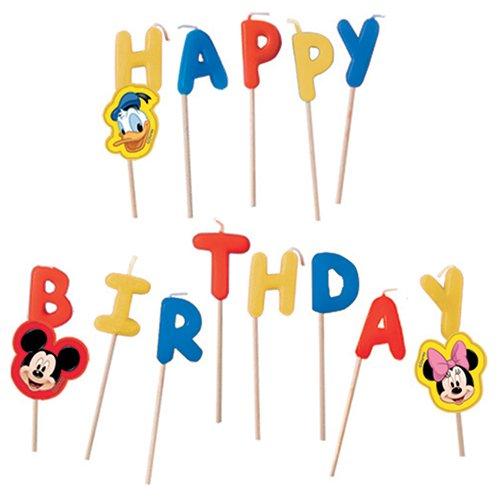 Disney Geburtstagskerzen Micky Maus, 13-teiliges Set
