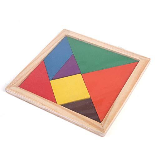 Triamisui Diversión de Madera Geometría Rhombus Tangram Puzzle Forma Desarrollo Intelectual cognitivo Juguetes para niños Juguete de iluminación para niños