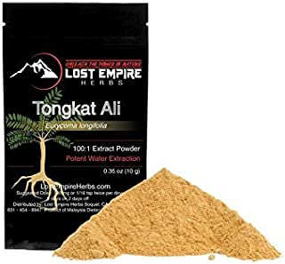 Premium Grade Tongkat Ali (Eurycoma Longifolia, Longjack, Malaysian Ginseng) - 100:1 High Potency Water Soluble Extract (10g) - Natural Energy and Performance Boost - Vegan, Paleo, and Keto Friendly