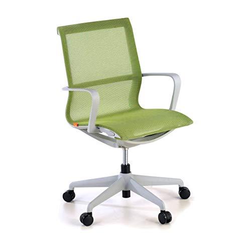 Ofichairs Silla Ice Silla de Oficina Giratoria Silla Escritorio de Diseño Respaldo de Red Uso Profesional Color Verde