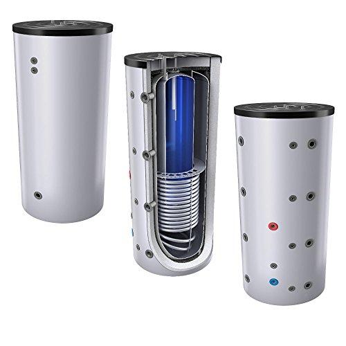 800L Schichten Kombispeicher - Tank in Tank System (Solarserspeicher/Pufferspeicher mit integrierter Trinkwassereinheit), mit 1 Wärmetauscher, inkl. Isolierung, Magnesiumanoden und Thermometer