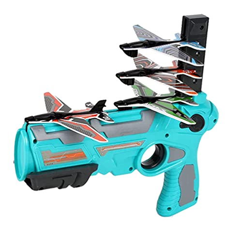 TOYANDONA 1 Set Catapult Vliegtuig Speelgoed Zweefvliegtuig Vliegtuig Launcher Een Klik Ejectie Model Hand Gooien Shooting Game Speelgoed