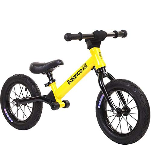 TOYSBBS Bicicleta Kawasaki Balance sin Pedales para Niños de 3 Años de Fácil Manejo y Ruedas de Goma Eva,Amarillo