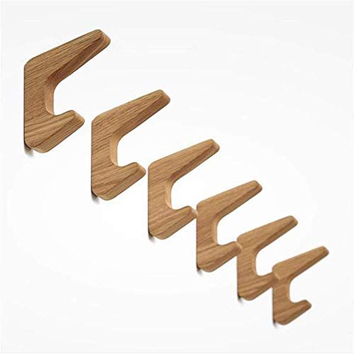 LIPENLI Conjunto de 3 montado en la pared del sombrero de madera de madera de la vendimia Ganchos individuales de bastidores Escudo Robe Ganchos Craft rústico toalla gancho de la suspensión Puerta de