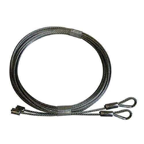 Sale!! MSPowerstrange 7 Foot High Garage Door Cables for Torsion Spring Doors Clopay, Wayne, Dalton,...
