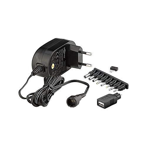Goobay 59029 Universal Netzteil 1500mA 3V / 4,5V / 5V / 6V / 7,5V / 9V / 12V inkl. 8 Adapterstecker plus USB