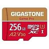 【5年保証 】【トップクラス A2規格】Gigastone Micro SD Card 256GB マイクロSDカード 512 GB プロ級高画質 Ultra HD 4K動画対応 Nintendo Switch 動作確認済 超高速起動 A2 V30 100MB/S スマート端末アプリ最適化 micro sd カード SD 変換アダプタ付属 w/adapter