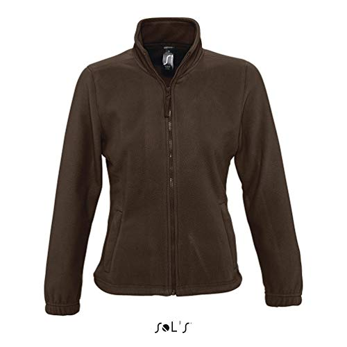 SOL´S - Womens Fleecejacket North M,Dark Chocolate