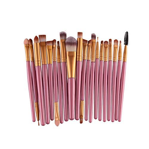 N/A 20 Piezas de Maquillaje de Maquillaje de Lavado de Herramientas de Maquillaje para Maquillaje de Ojos, fundación, Sombra de Ojos y Otras Herramientas de cosméticos (Color : E)