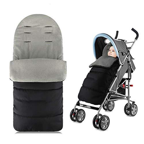 WIKEA Saco de dormir universal 3 en 1 para cochecito de bebé, impermeable, resistente al viento y al frío, desmontable