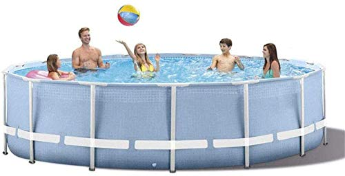XLBHSH Swimming Pool Paddling Pool Round Frame Above Ground Pool Pond Family Swimming Pool Metal Frame Structure Pool 120In×30In