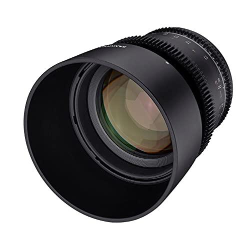 Samyang MF 85mm T1,5 VDSLR MK2 Sony E – lichtstarkes T1,5 Tele Cine- und Video Objektiv für Sony E Mount, 85 mm Festbrennweite, Follow Focus Zahnkränze Vollformat und APS-C, 8K Auflösung