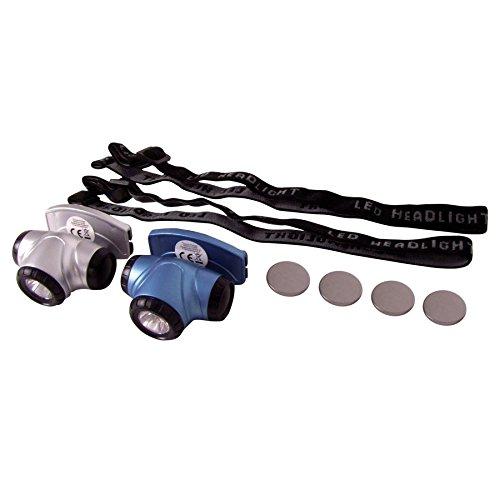 BURI LED-Mini-Kopflampen 2er-Set Stirnlampe Kopfleuchte Campinglampe Outdoor Trekking