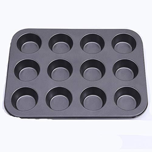 N-B Ustensiles De Cuisson Mini Muffin Moule à GâTeau 12/24/48 Trous Moule à Cupcake Plats De Cuisson AntiadhéSifs Plateaux De Four en Acier Au Carbone Outil De PâTisserie 316