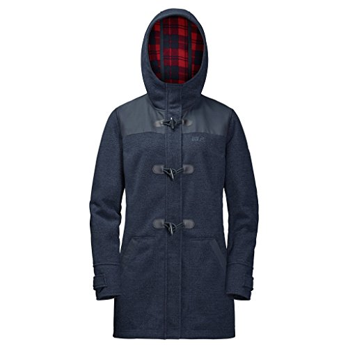 Jack Wolfskin Damen Edmonton Coat Women Fleecejacke Frau, Night Blue, L