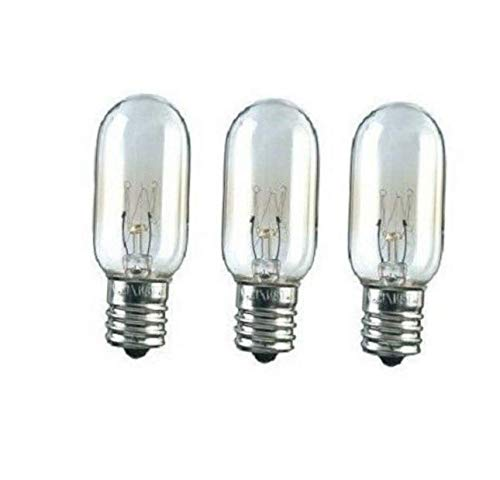 PTD 3 Pcs Bulb 130V Microwave Light Bulb WB36X10003 Replacement for 40W - EB96