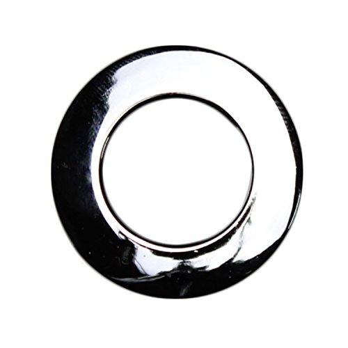 Stoffösen für 24mm Stoffloch - Hightech Kuststoff - Made in Germany - verschiedene Farben - Auch für dicke Stoffe geeignet - 10 Stück (chrom-glanz)