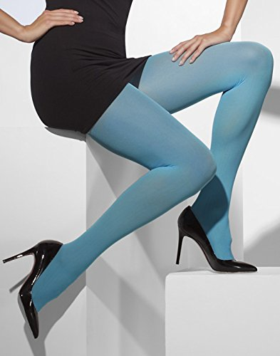 Smiffys Fever Damen Blickdichte Strumpfhose, One Size, Blau, 42725